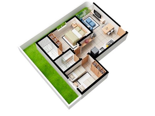 Apartamento Garden com 2 dormitórios, 125 m²