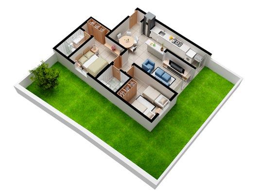 Apartamento Garden com 2 dormitórios, 76,5 m²