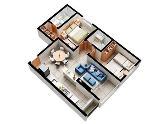 Apartamento Garden com 2 dormitórios, 65 ou 68m²