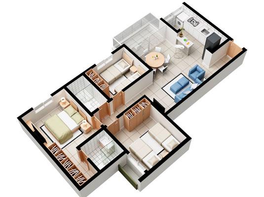 Apartamento com 3 dormitórios, 84 ou 85,9 m²