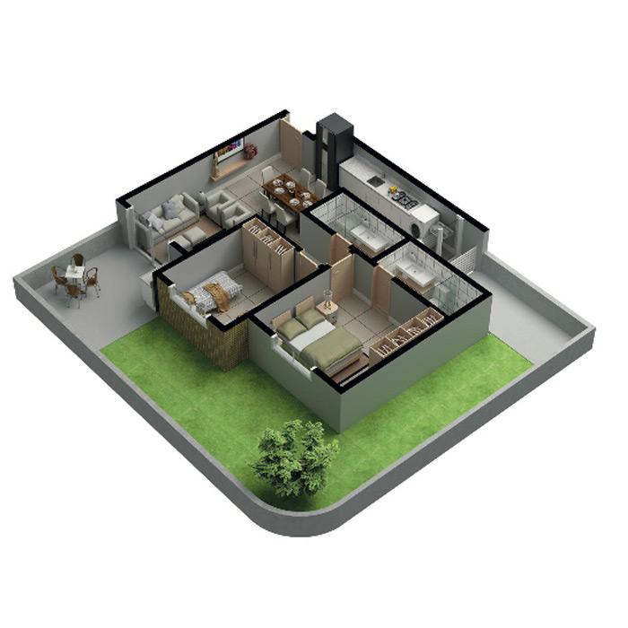 Apartamento garden, 119,86 m² c/ 1 vaga subterrânea