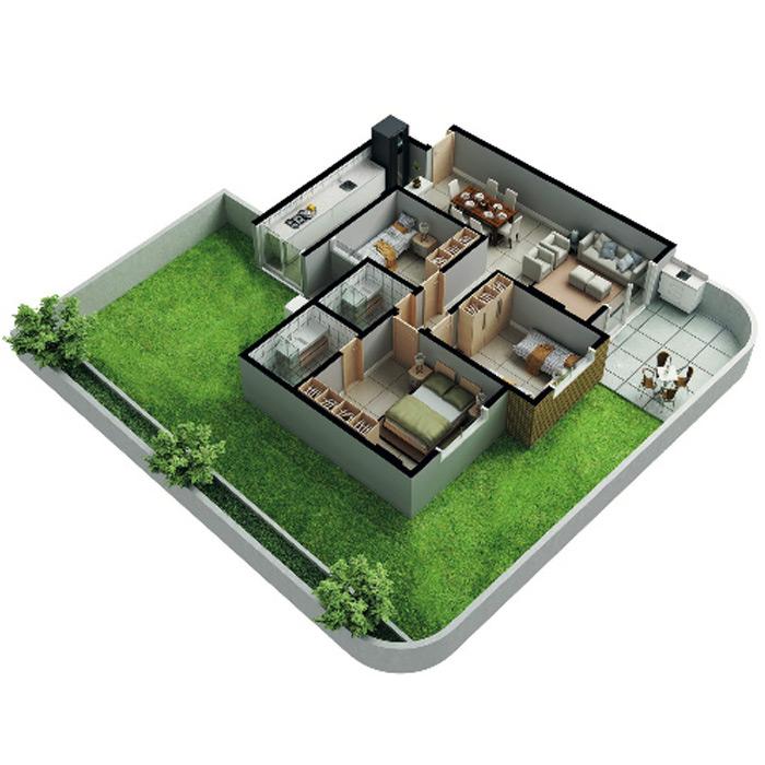 Apartamento garden, 188,65 m² c/ 1 vaga subterrânea