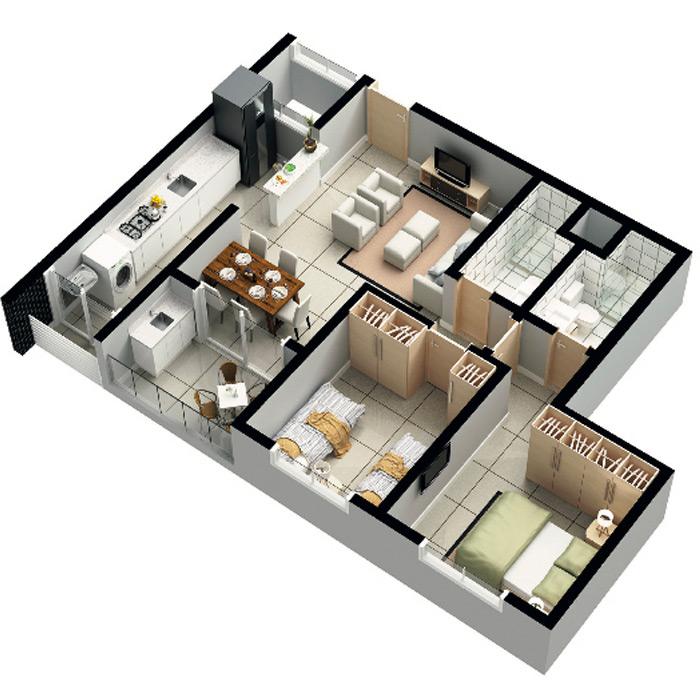 Apartamento, 72,77 m² c/ 1 vaga