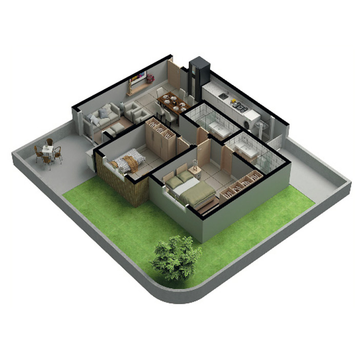 Apartamento garden, 103,46 m² c/ 1 vaga