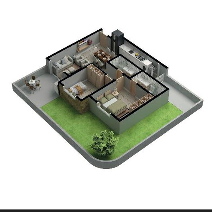 Apartamento garden, 116,56m² c/ 1 vaga