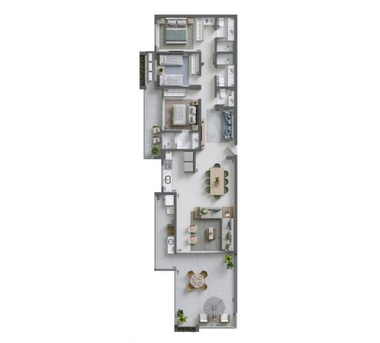 Apartamento Cobertura 137,23 m² - nº 1305