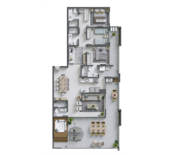 Apartamento Cobertura 159,61 m² - nº 1304