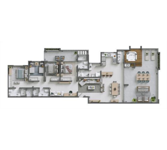 Apartamento Cobertura 188,72 m² - nº 1301
