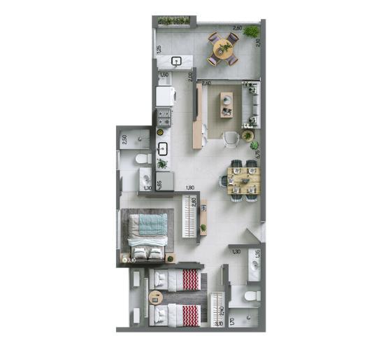 Apartamento 67,48 m² - Final 6