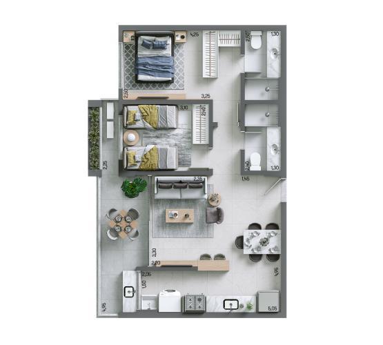 Apartamento 67,80 m² - Final 8