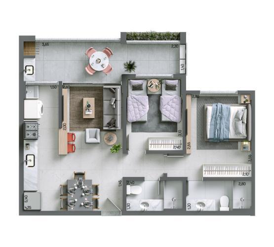 Apartamento 70,03 m² - Final 5