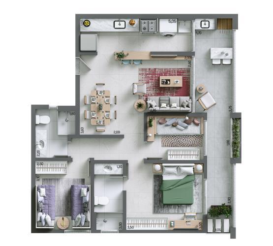 Apartamento 82,29 m² - Final 10