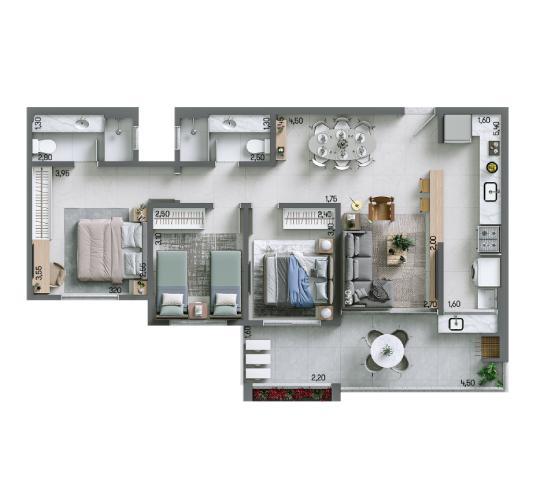 Apartamento 90,62 m² - Final 4