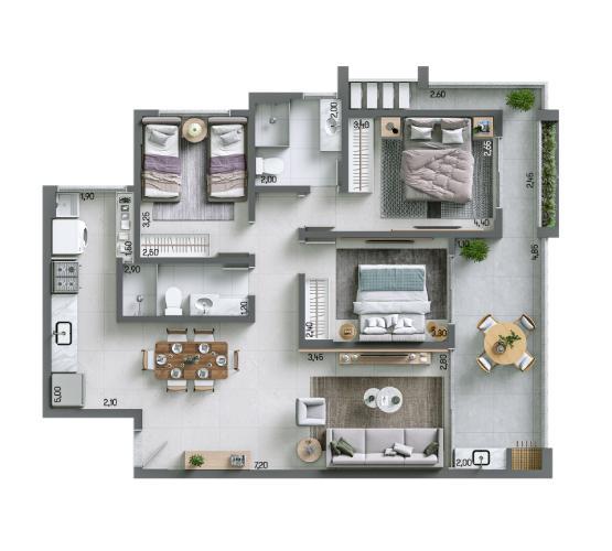 Apartamento 95,61 m² - Final 1