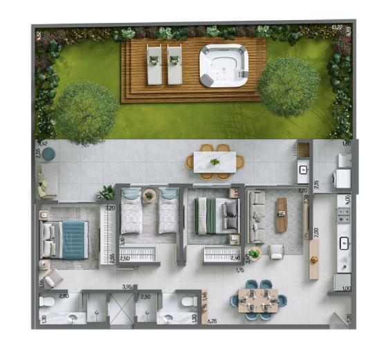 Apartamento Garden 168,72 m² c: 1 vaga