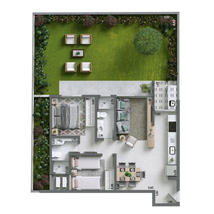 Apartamento Garden 120,39m² - Final 02