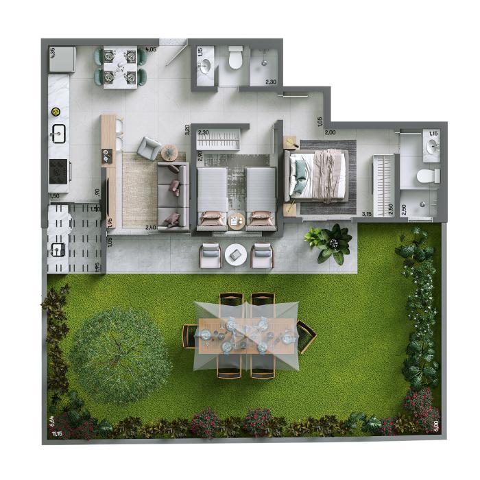 Apartamento Garden 119,72 m² - Final 03