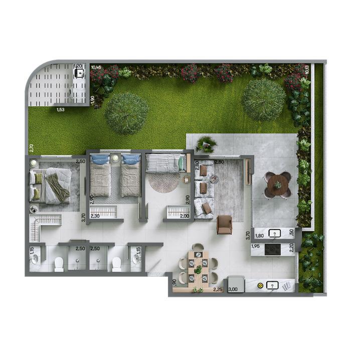Apartamento Garden 132,16 m² - Final 01