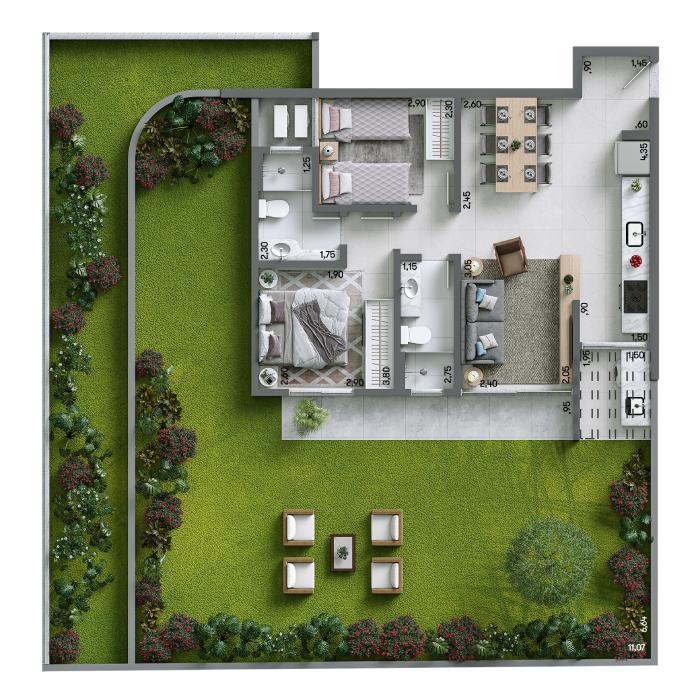 Apartamento Garden 141,75 m² - Final 04