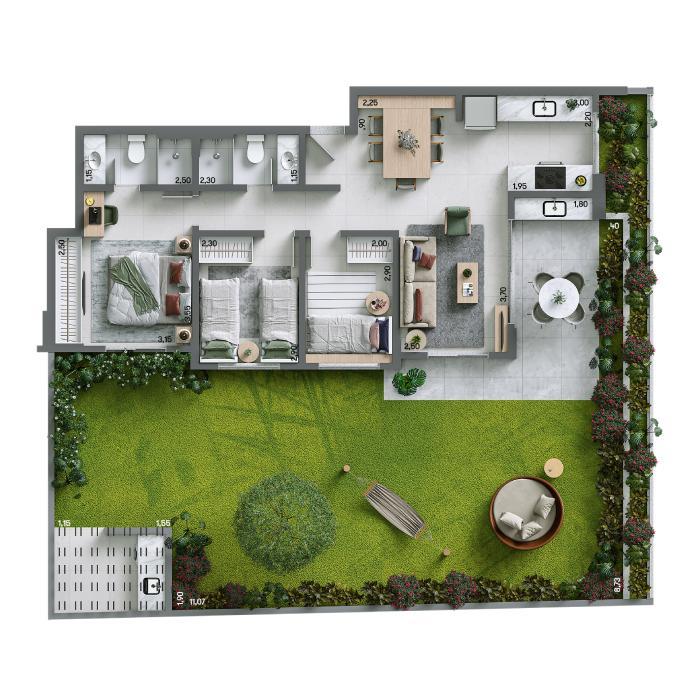 Apartamento Garden 159,13 m² - Final 02